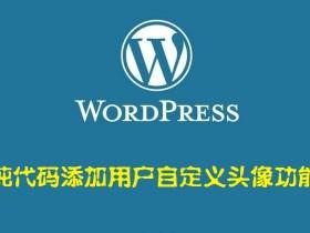 纯代码添加用户自定义头像功能——WordPress美化