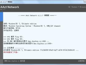 KMS 网络激活工具 AAct Network v1.1.7汉化版