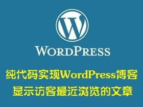 纯代码实现WordPress博客显示访客最近浏览的文章