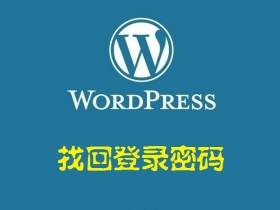 纯代码找回 WordPress 登录密码