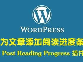 Post Reading Progress 为文章添加阅读进度条 —— WordPress插件