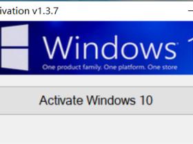 Windows10 数字权利一键永久激活工具 v1.3.7 单文件便携版