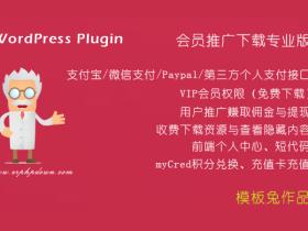 VIP会员收费下载插件 Erphpdown v9.7.1(官方原版,永久更新)