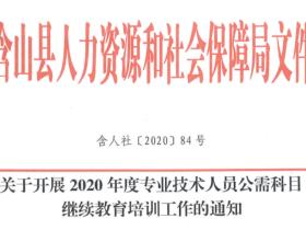 2020年安徽省含山县专业技术人员公需科目继续教育培训使用手册